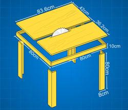 Tips & Trik Cara Membuat Meja Potong Table Saw dari Papan