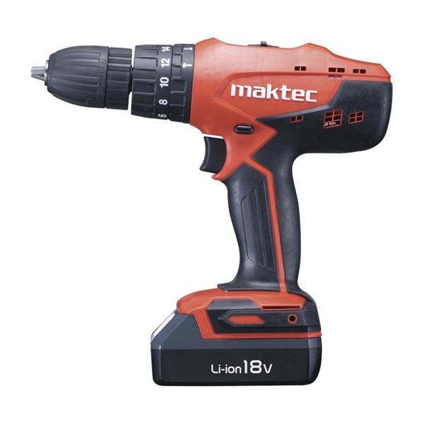 Maktec Cordless Hammer Driver Drill (Li-ion) MT 081 E