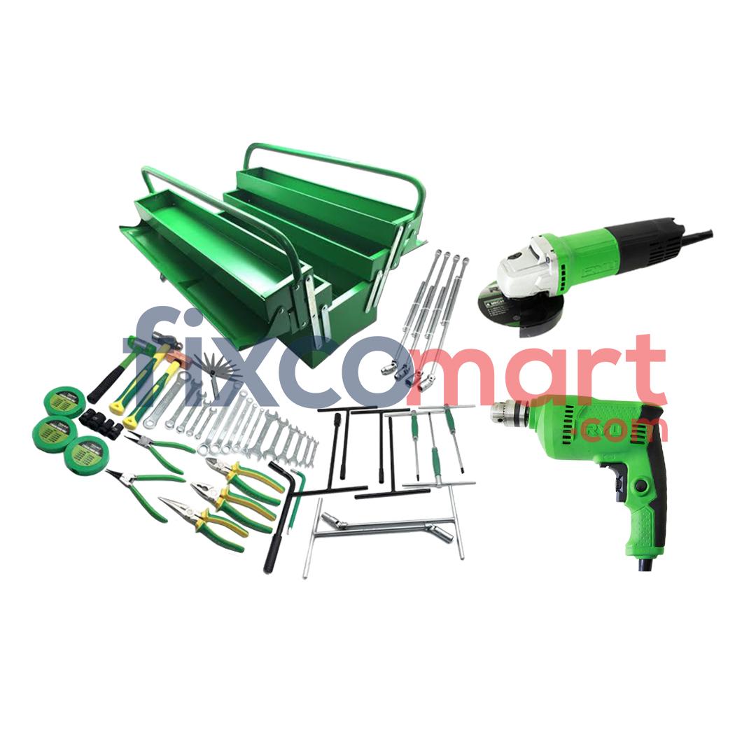 Paket Bengkel Motor Mobil Bor Gurinda Gerinda Tool Set Murah