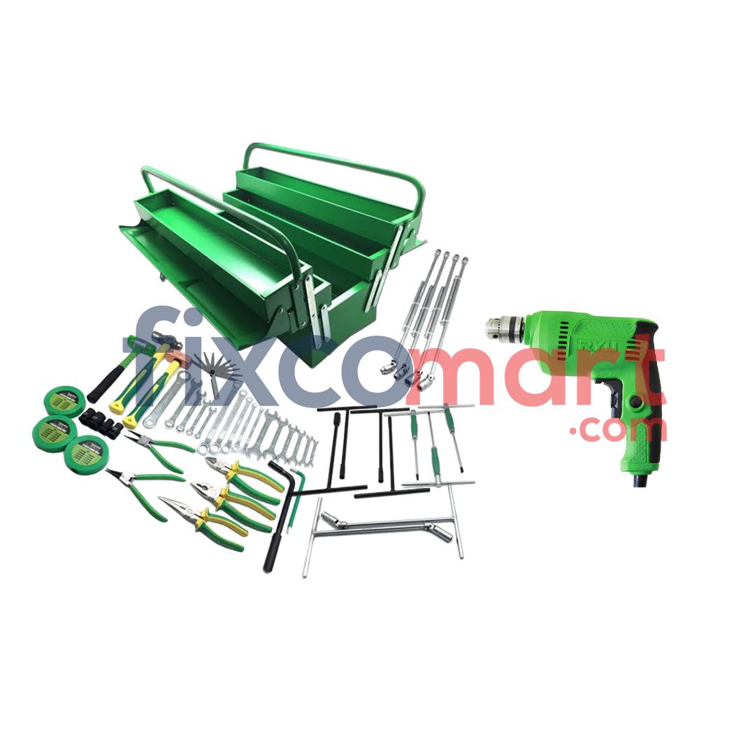 Paket Bengkel Motor Mobil Bor Tool Set Murah Hemat