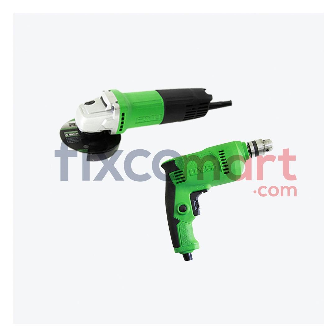 Paket Mesin Bor Tangan & Mesin Gerinda RYU RDR 10-3 Grinder RSG 100-3