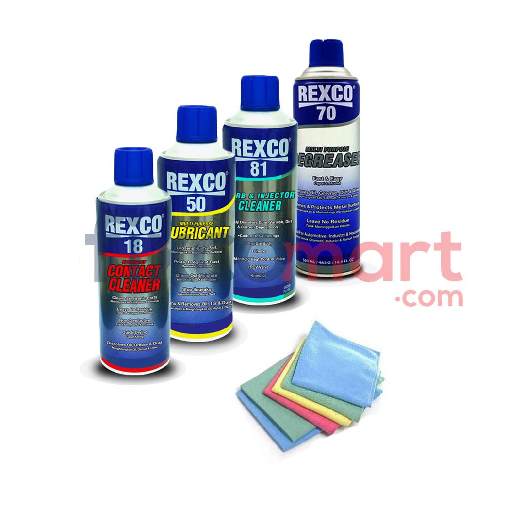 Paket murah bersih setelah banjir ( Rexco + kain lap microfiber )