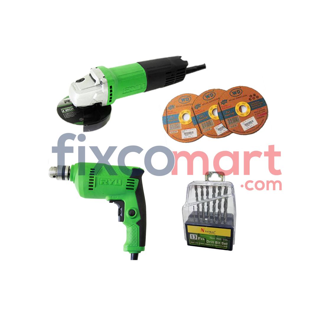 Paket Murah RSG 100-3 + RDR 10-3 Bonus Mata Bor dan Gurinda
