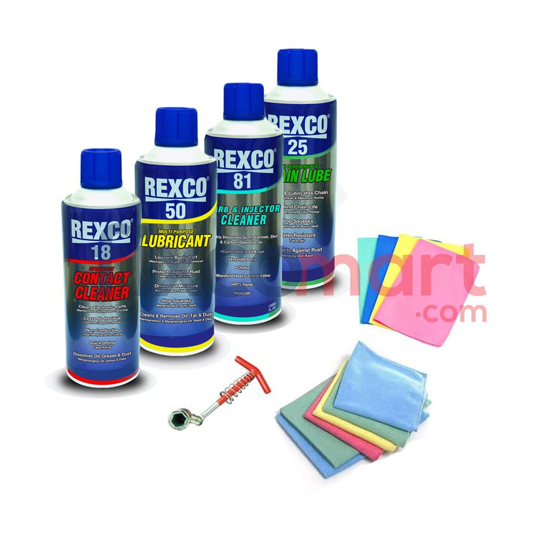 Paket siaga banjir ( Rexco, Kunci busi 2in1, lap microfiber + kanebo )