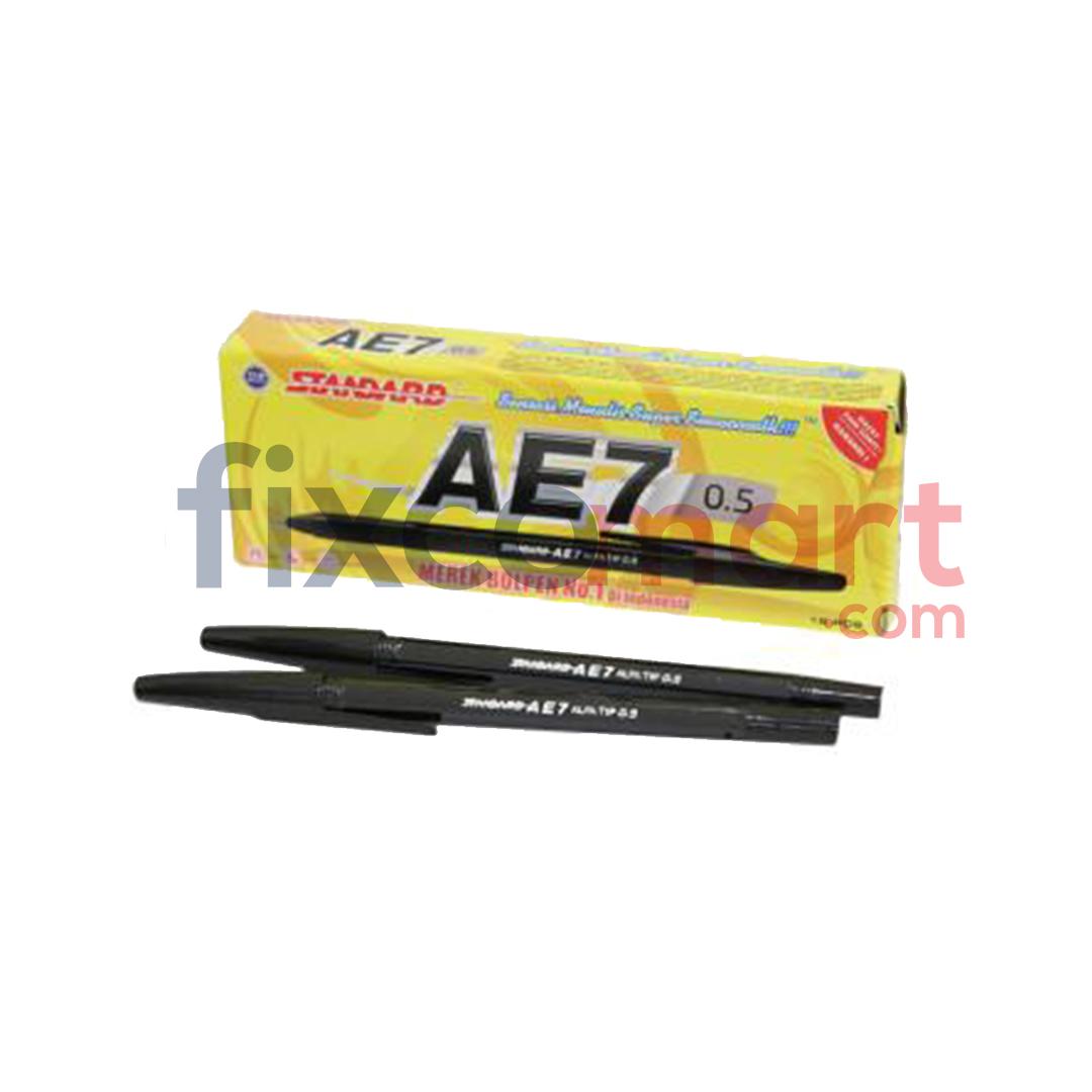 Pulpen Standard AE7 / Pen / Ballpoint Hitam Biru Merah
