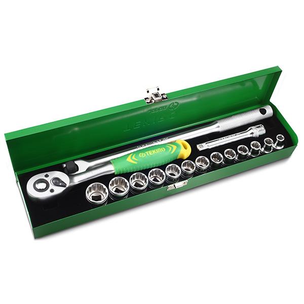 Tekiro Socket Set 1/2 inch 17 pcs