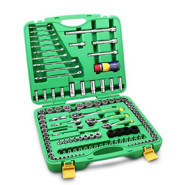 Tekiro Socket Set 1/4 inch - 3/8 inch - 1/2 inch 120 pcs