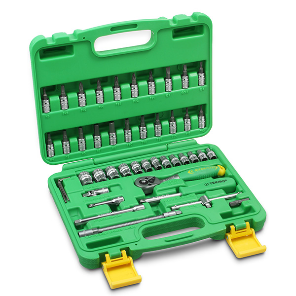 Tekiro Socket Set 1/4 inch 46 pcs (6PT)